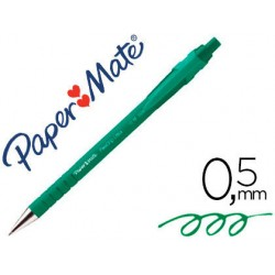 stylo bille paper mate flexgrip rectract vert