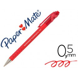 stylo bille paper mate flexgrip rectract rouge