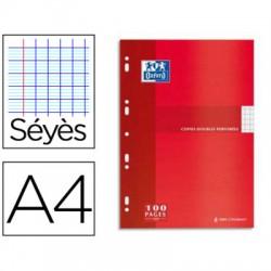 paquet de 100 copies doubles A4 perforées OXFORD séyès