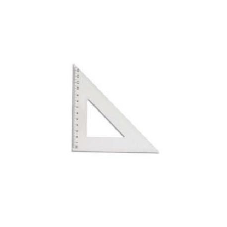 Équerre 45° - 20 cm - plastique transparente