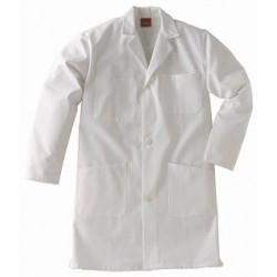 Blouse blanche - 100% coton, boutons pression de XS à XXL