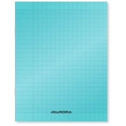 Cahier Aurora polypro - A4 (21 x 29,7) - 96 pages - Seyes bleu - grands carreaux