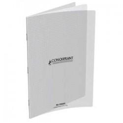 Cahier Conquérant polypro - A4 21 x 29.7 - petits carreaux 5 x 5 - 96 pages - incolore